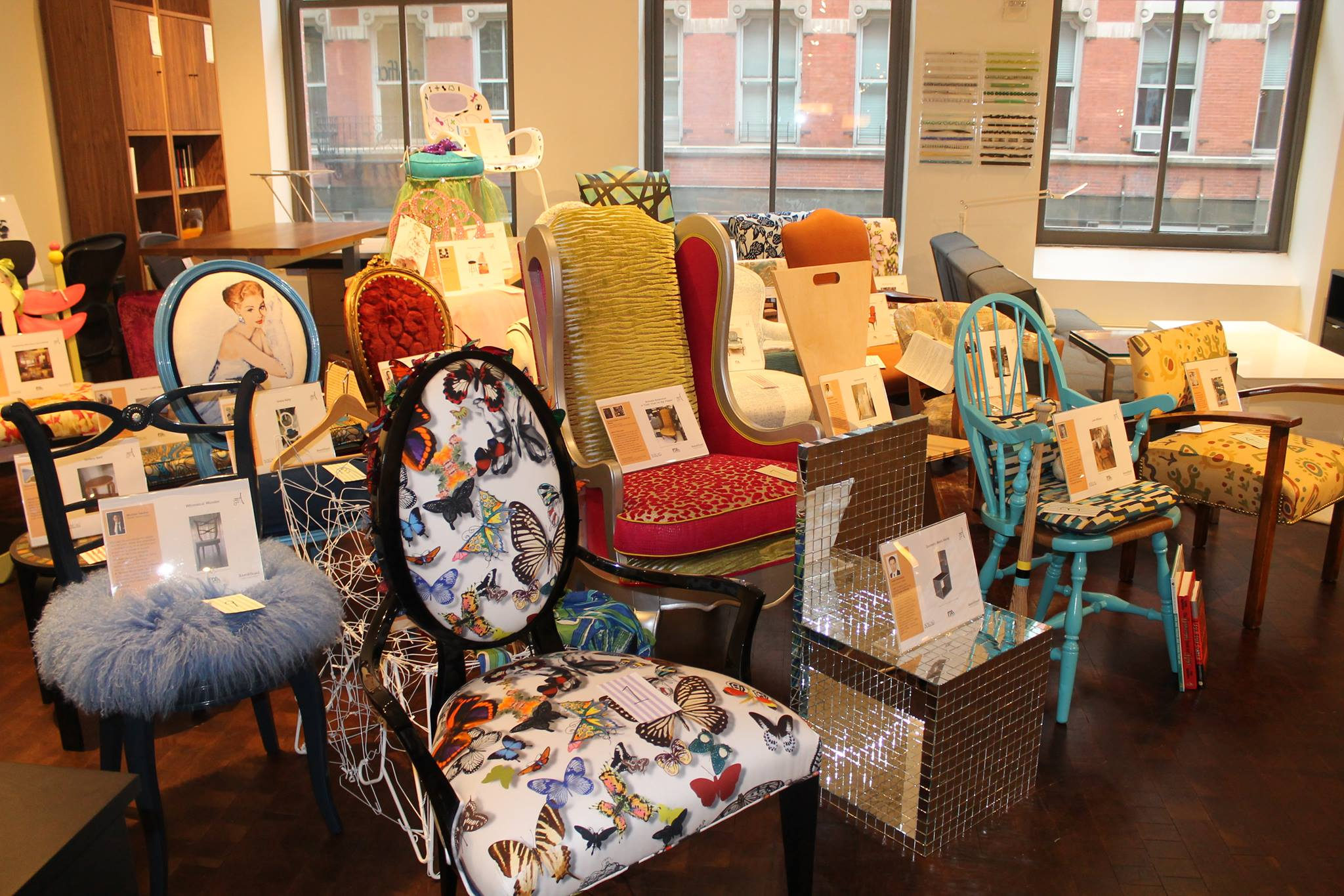 Designers create chairs for charity at IFDA event