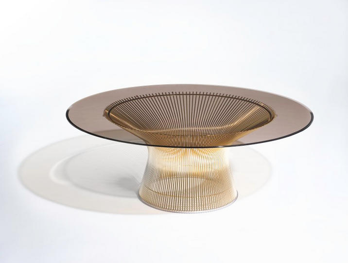 Gold-plate finish heralds 50th anniversary of Knoll-Platner Collection