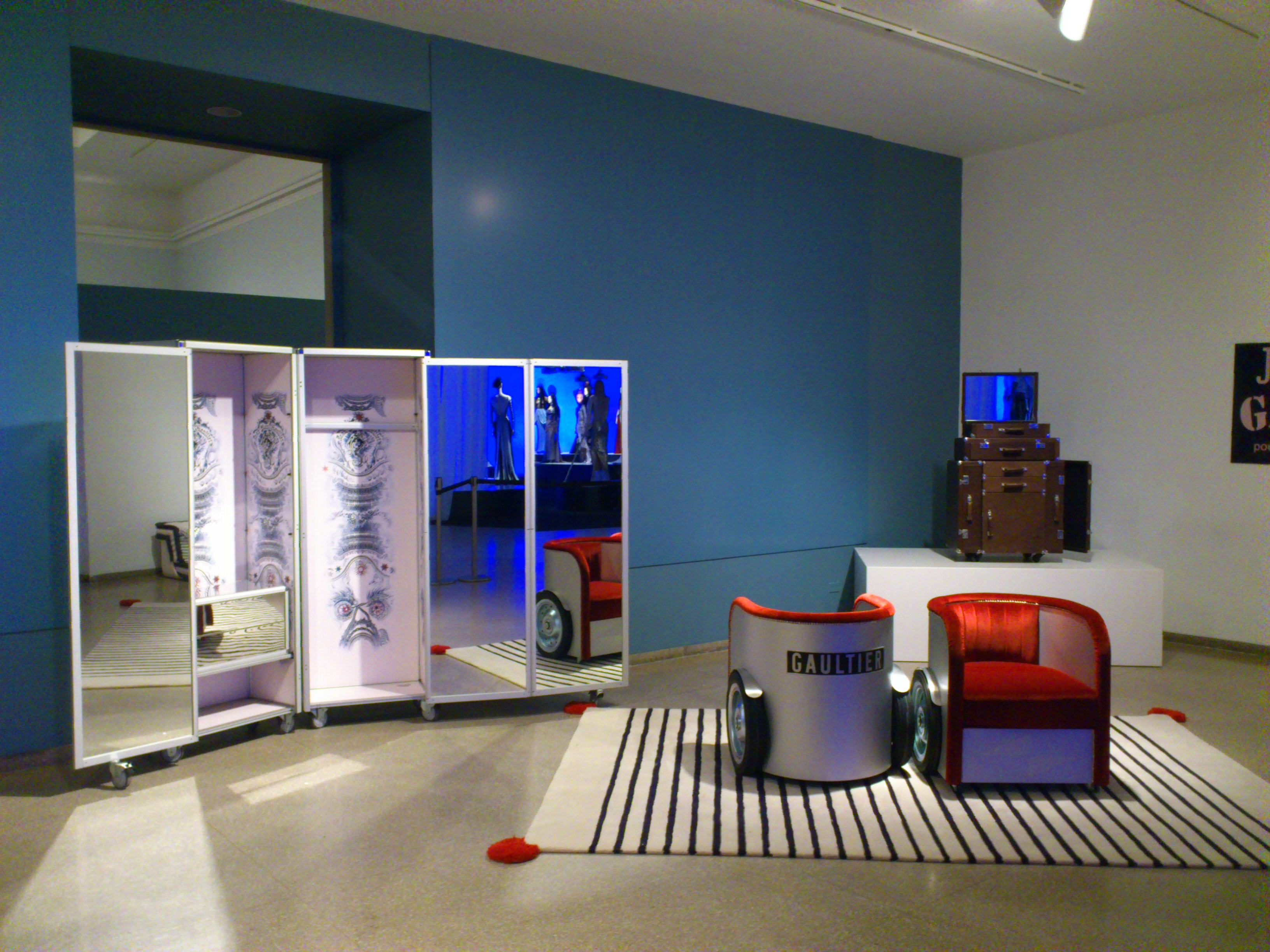 jean paul gaultier for roche bobois on display in brooklyn. Black Bedroom Furniture Sets. Home Design Ideas