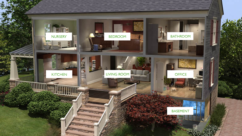 Virtual tour educates consumers about a home's air quality