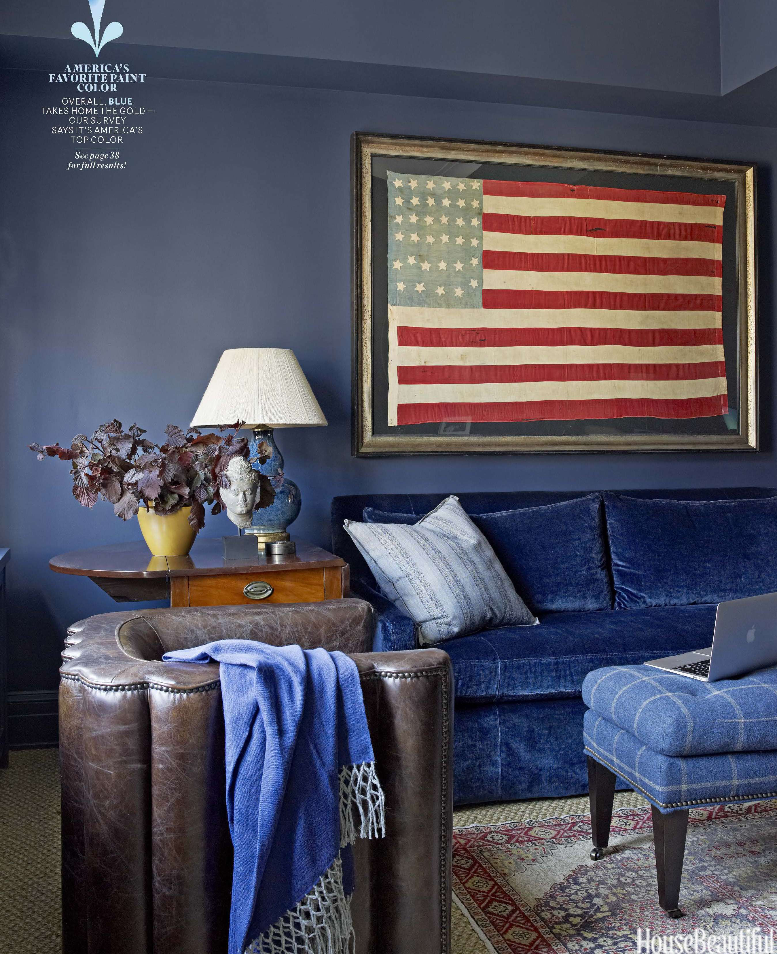 House Beautiful report names blue America's favorite color