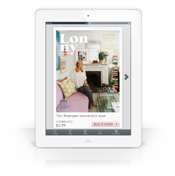 Lonny launches ipad app, sells subscriptions
