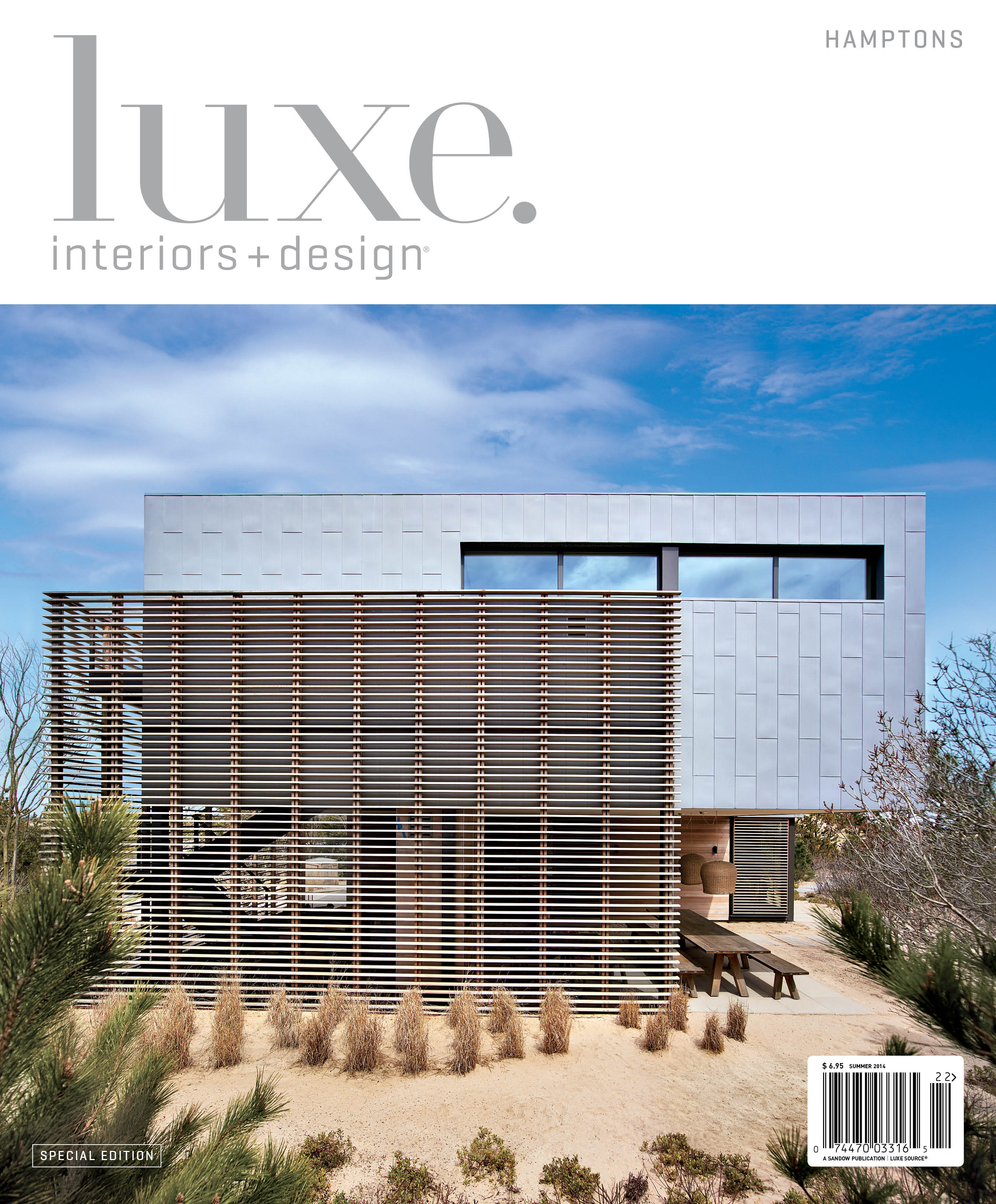 Luxe Interiors + Design publishes in the Hamptons this summer