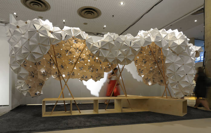 Parsons students presented textile installation at ICFF