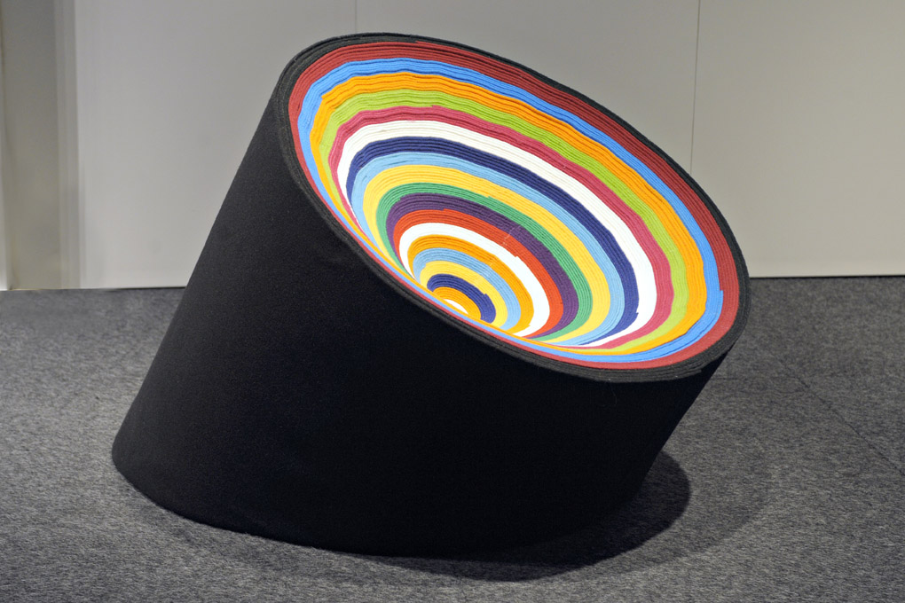 "Round carpet chair wins Finland's ""Recycled Seat"" award"