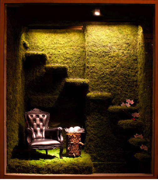 "SF designers create ""home""-themed window installations"