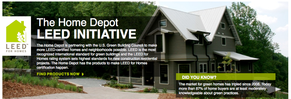 Home Depot and USGBC launch green products database