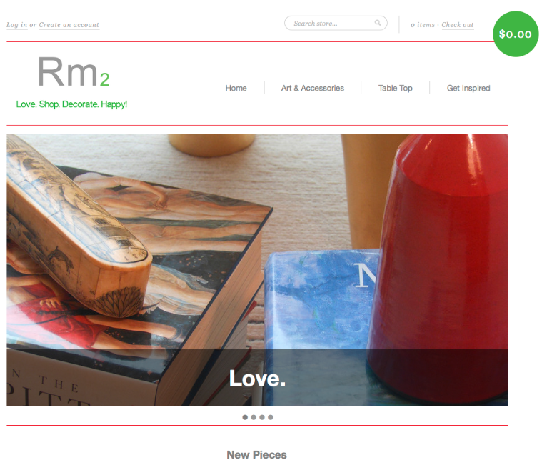 Designer launches retail site for the 'finishing touches'