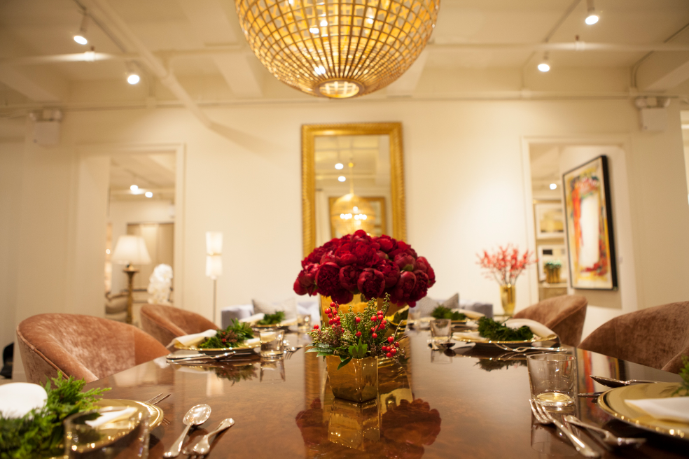 Event Recap: Designers get festive at the AERIN showroom