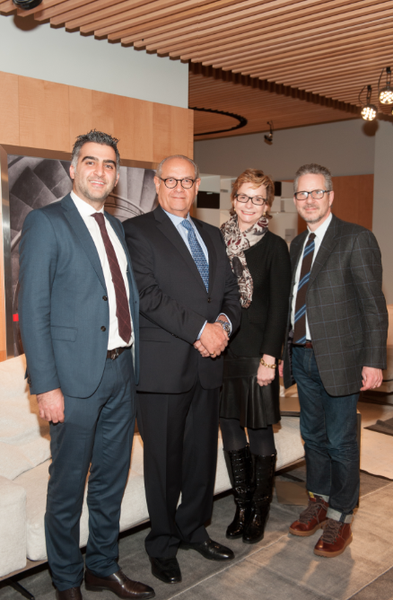 amir kazerani jose levy barbara friedmann and michael boodro left the flexform showroom right ucflexform is the best of italian design and the quality