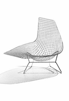 Knoll celebrates sculptor and designer harry bertoia for Bertoia asymmetric chaise
