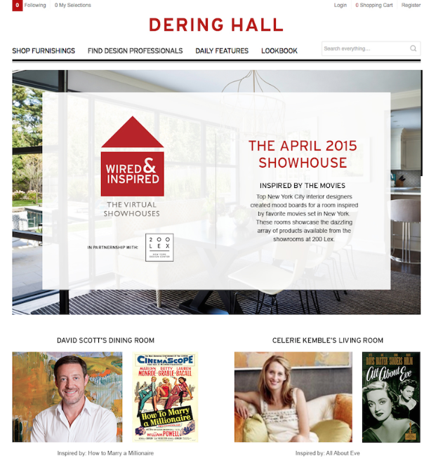 Dering Hall rolls out Wired & Inspired, virtual showhouses