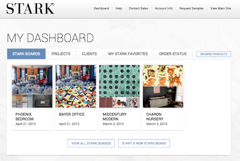 Stark's new website launches mood board tool, trade features