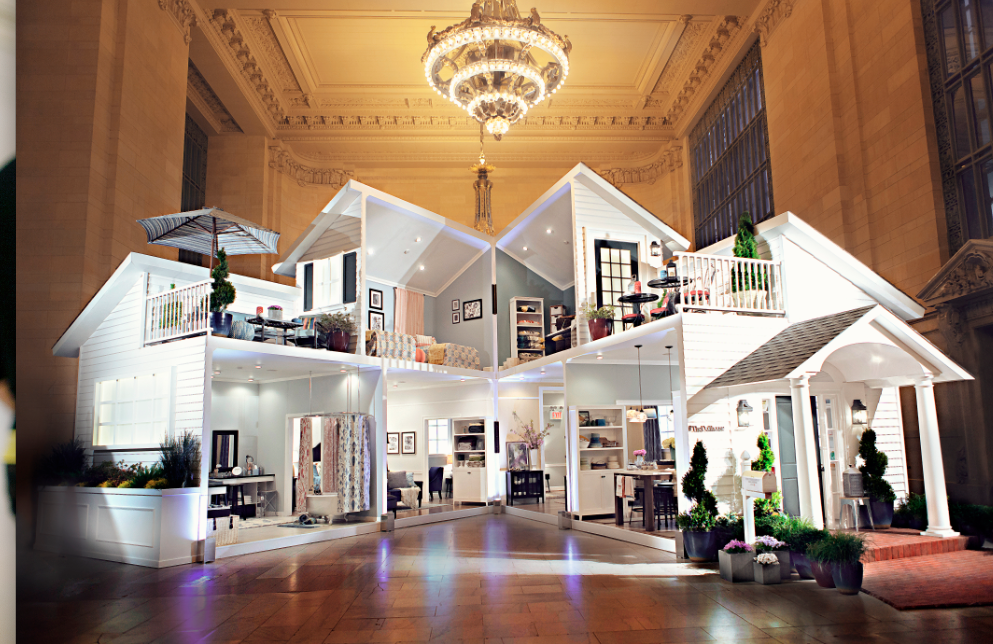 Target opens life size dollhouse in grand central terminal for Big modern dollhouse