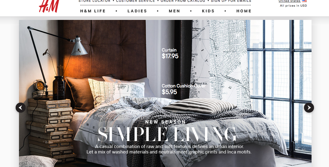 H&M to launch home line in the U.S. this fall