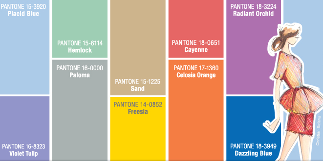 "Pantone releases ""on trend"" colors for spring 2014"