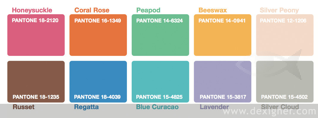 Pantone reports top 10 colors for Spring