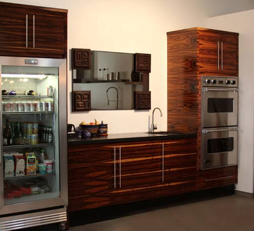 kitchen display rosewood cabinetry absolute black granite countertop with leather finish hayes draws his inspiration from brazilian design and aesthetics. Interior Design Ideas. Home Design Ideas