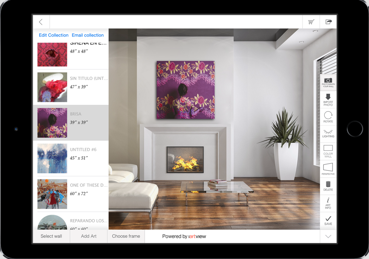 Iartview App Lets Users Preview Art Work On Their Wall Of