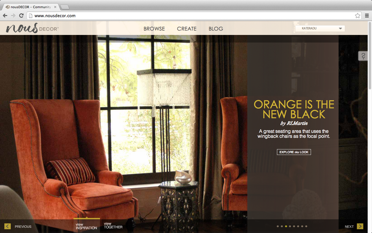 Home interior website.