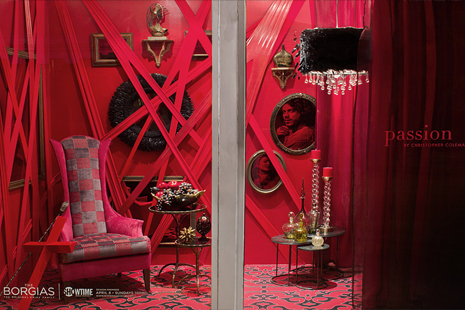 Designers create windows inspired by Showtime's Borgias