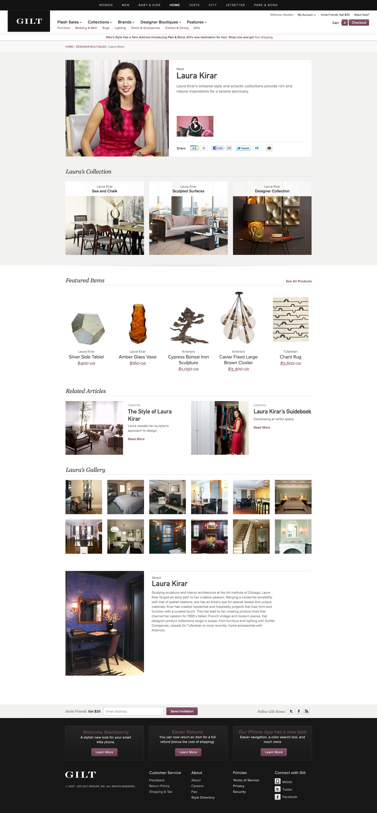 Gilt Home relaunches with designer boutiques, trade products