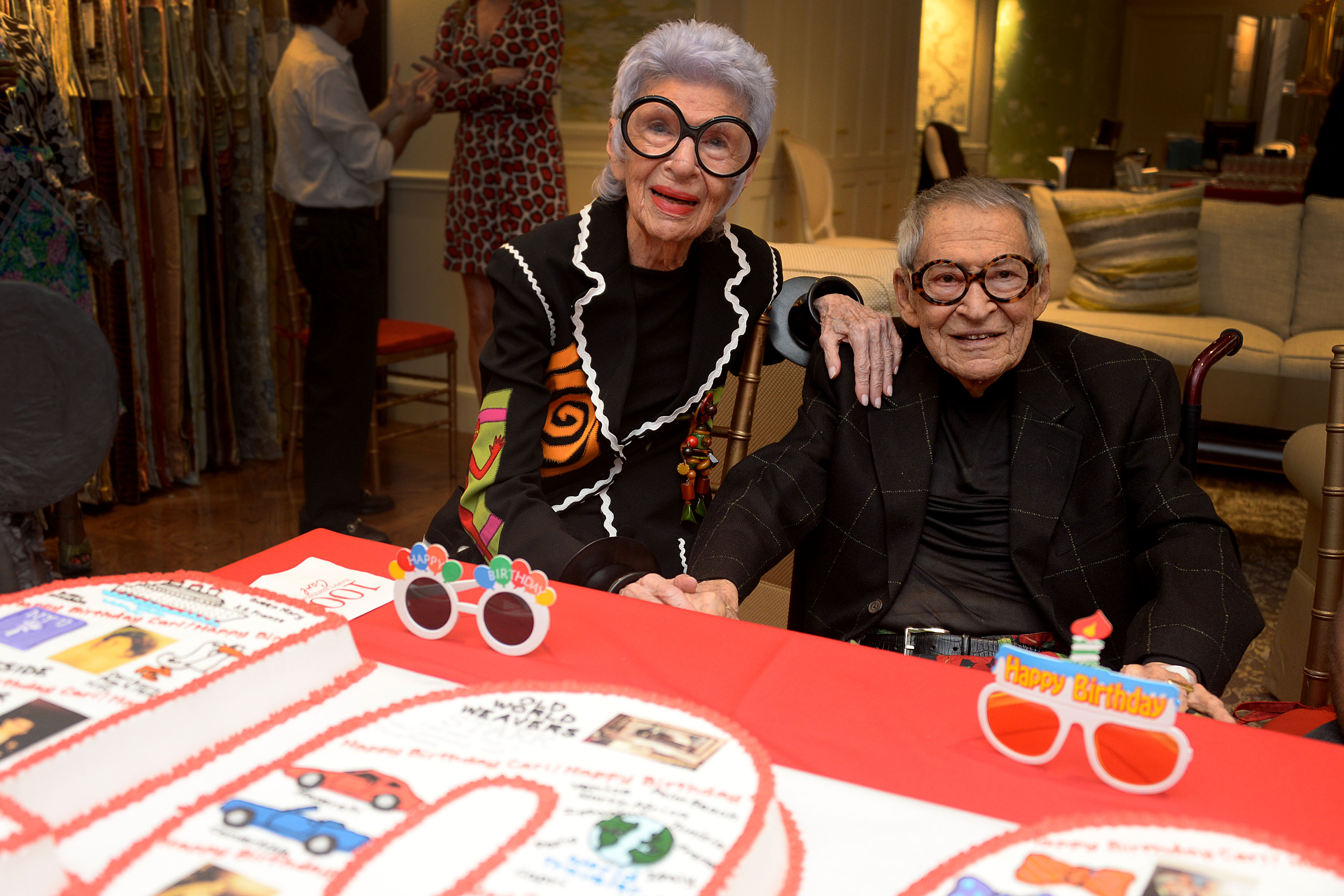 Iris Apfel and Stark toast Carl Apfel's 100th Birthday