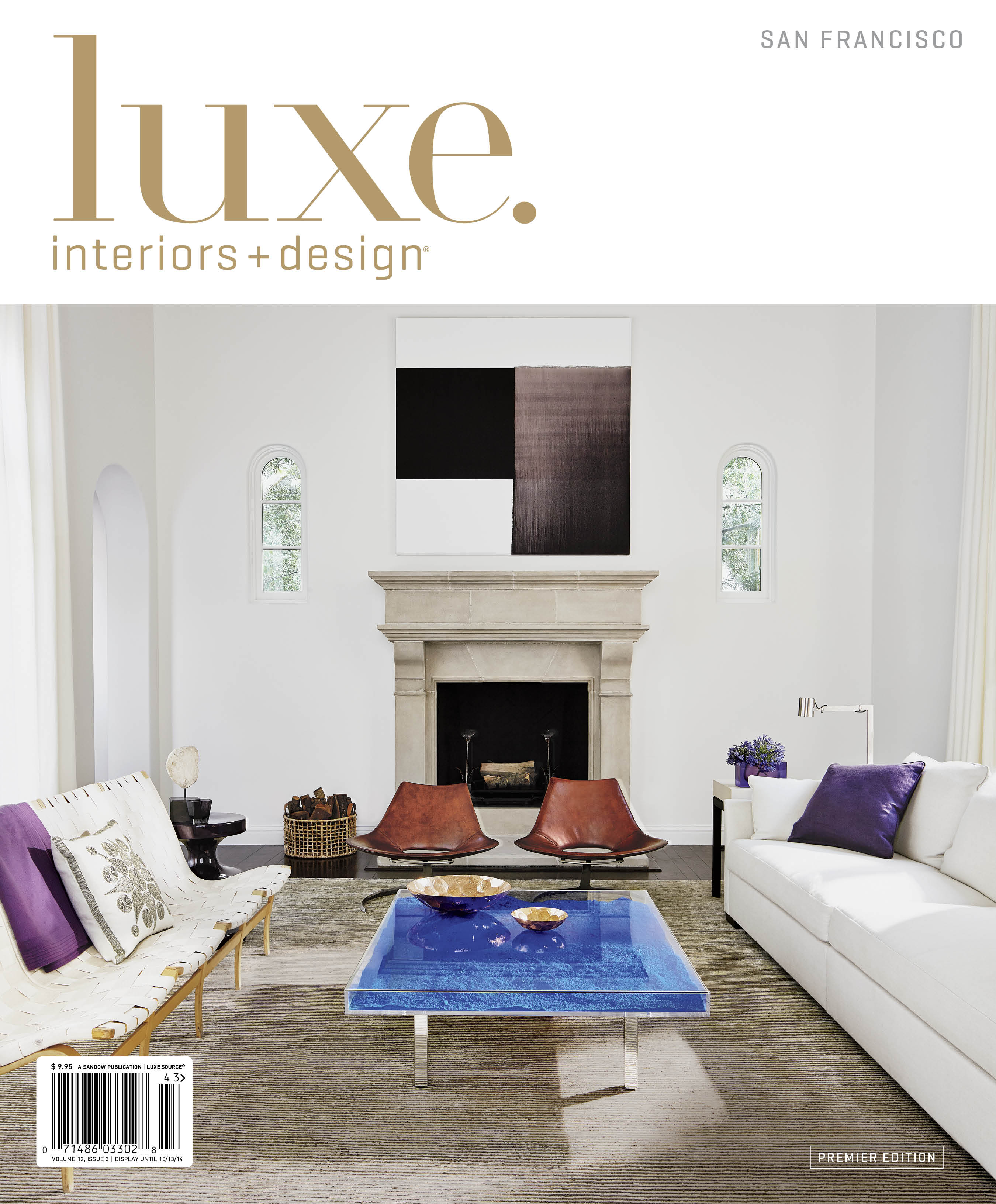 luxe interiors design officially debuts in the bay area. Black Bedroom Furniture Sets. Home Design Ideas