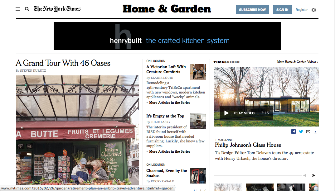 The Editor At Large New York Times Cancels Home Garden Section